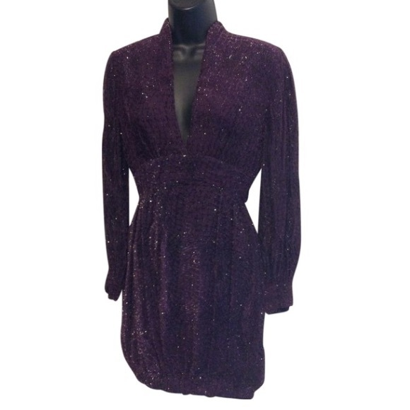 Vintage Dresses & Skirts - Vintage Purple Ballon Mini Dress